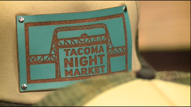 Tacoma Night Market cap for sale at the Tacoma Night Market