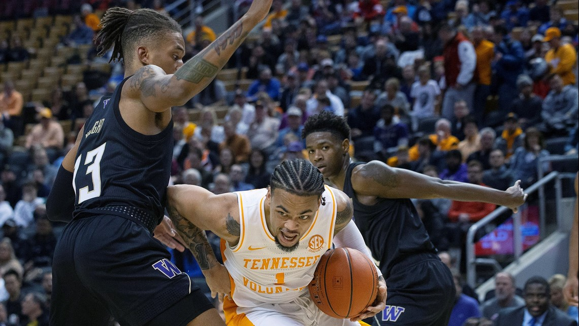 Tennessee upsets No. 20 Washington 75-62