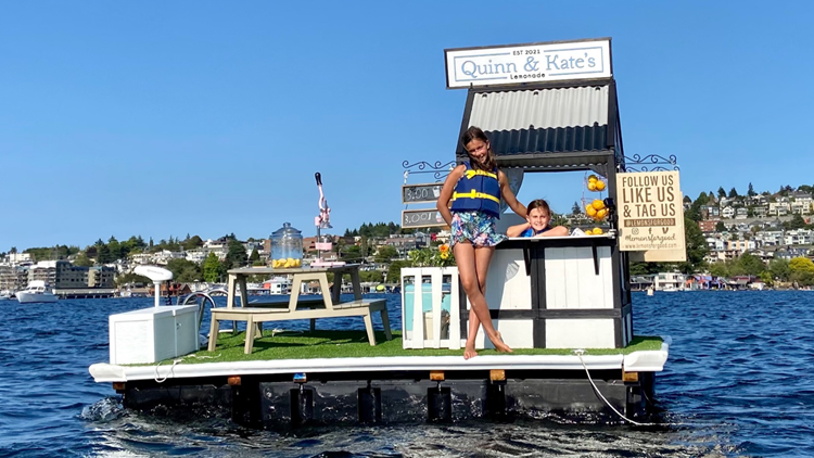 Meet the young entrepreneurs behind Lake Union's floating lemonade stand