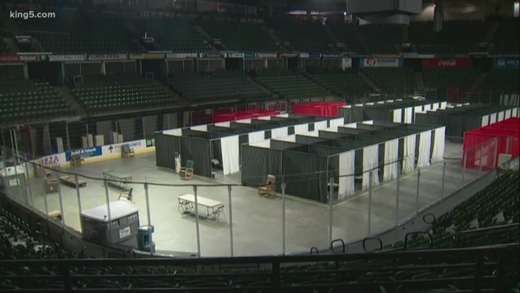 Everett's Angel of the Winds Arena opens as a coronavirus quarantine site on Wednesday