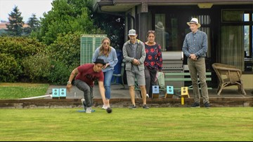 Team Evening takes a toss at lawn bowling - Field Trip Friday