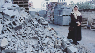 Young engineer turns debris and rubble in Gaza into brand new buildings