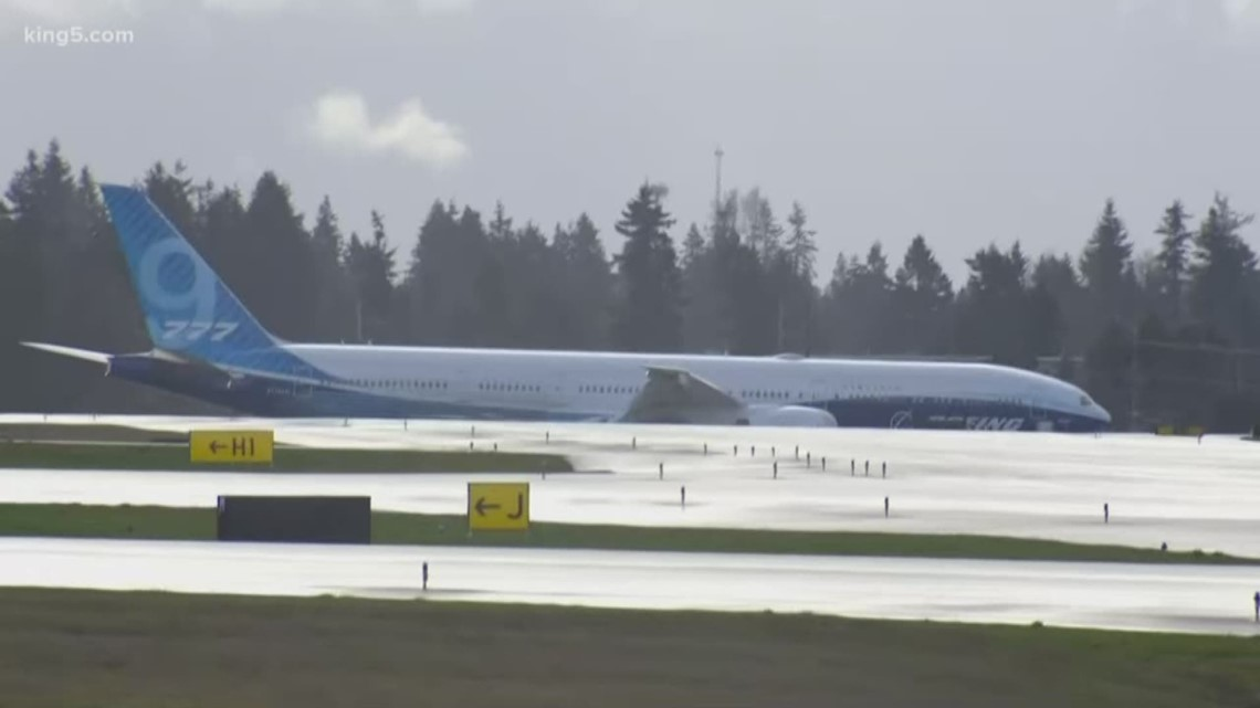 Weather Impacting First Test Flight Of Boeing S New 777x
