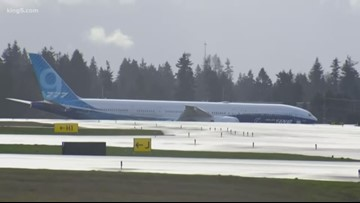 Weather impacting first test flight of Boeing's new 777X jet