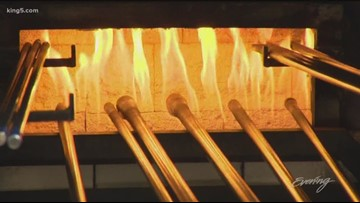 Learn how to blow glass on your lunch break at Seattle Glassblowing Studio - Field Trip Friday - KING 5 Evening
