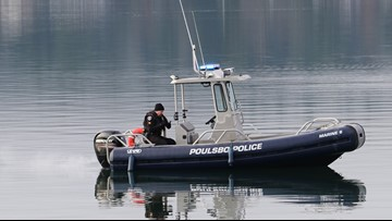 Firefighters treated for hypothermia after rescuing man from submerged car in Liberty Bay