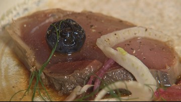 Kamonegi in Seattle serves tuna tataki with surprising ingredients