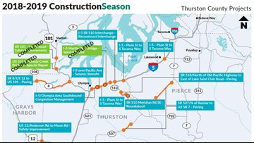I-5 lane closures, reduced speeds for repair near Nisqually River Bridge this weekend