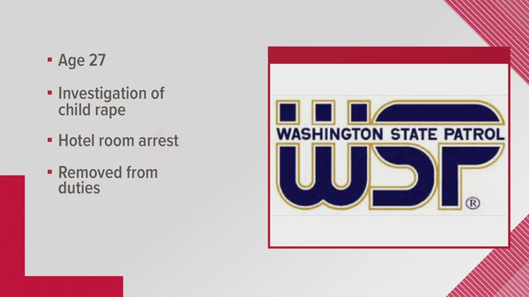 Washington State Patrol employee arrested for investigation of child rape