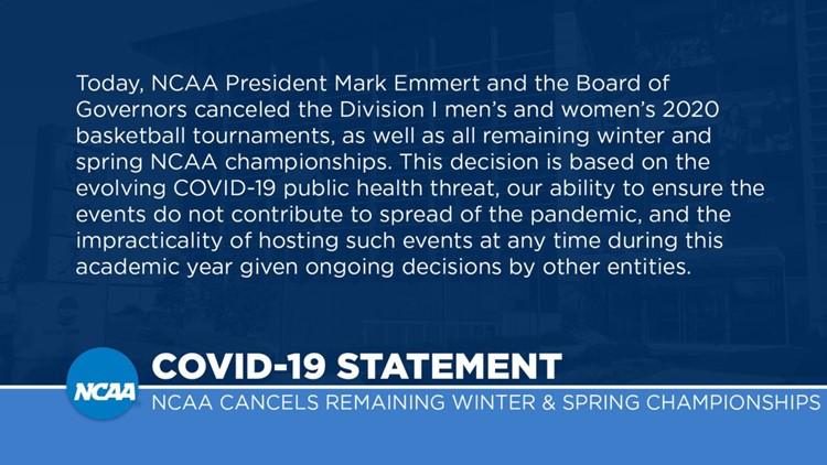 NCAA cancelation