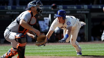 Mariners slip past Tigers in 10 for 5th straight win