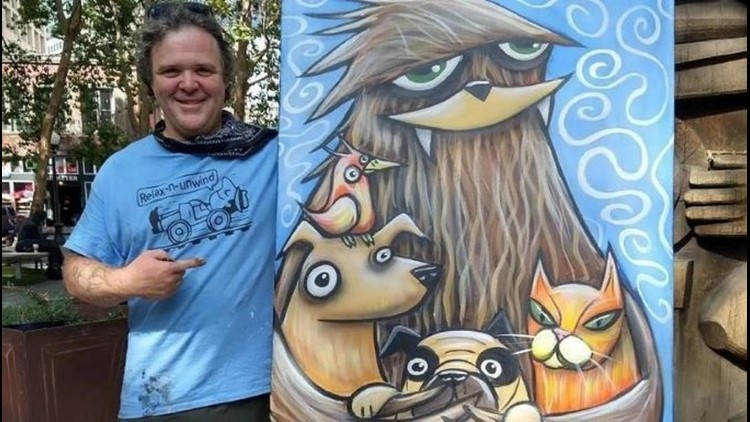Want to own an original painting from Seattle artist Henry?