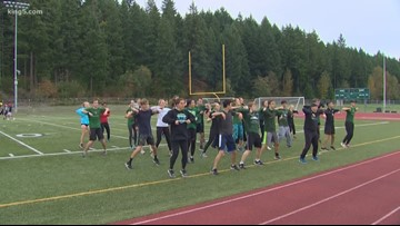 Prep Zone: The line dancing Emerald Ridge cross country team
