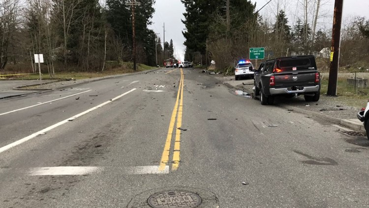 Woman killed, suspect arrested after deadly collision in Pierce County