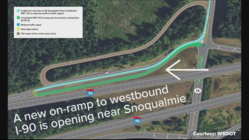New WB I-90 ramp aims to relieve SR 18 traffic near Snoqualmie