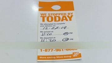 Profane Note Left On Missed Home Depot Delivery Slip In