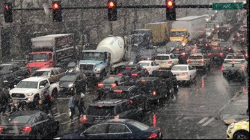 Drive times return to normal after skyrocketing as snow falls in Puget Sound area