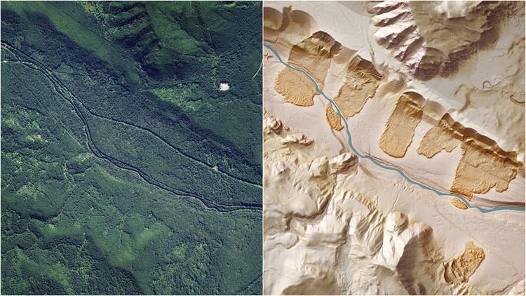 cedar river landslide lidar