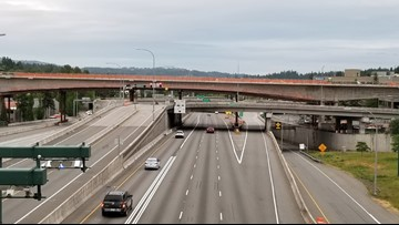 Northbound I-405 closed through downtown Bellevue today