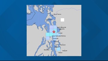 2 small quakes hit off the coast of Whidbey Island