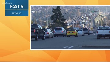 """""""Revive I-5"""" work on SB lanes in downtown Seattle postponed"""