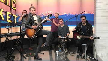"""British singer BANNERS performs """"Where the Shadow Ends"""" live in-studio - New Day Northwest"""