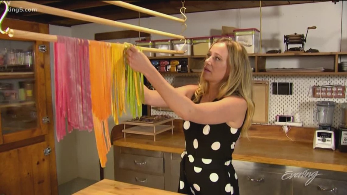 Seattle's 'pasta ninja' shares her tricks for making colorful edible art -  Field Trip Friday - KING 5 Evening