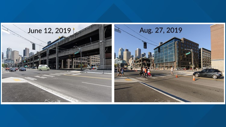 Viaduct Demolition before-after S King Street