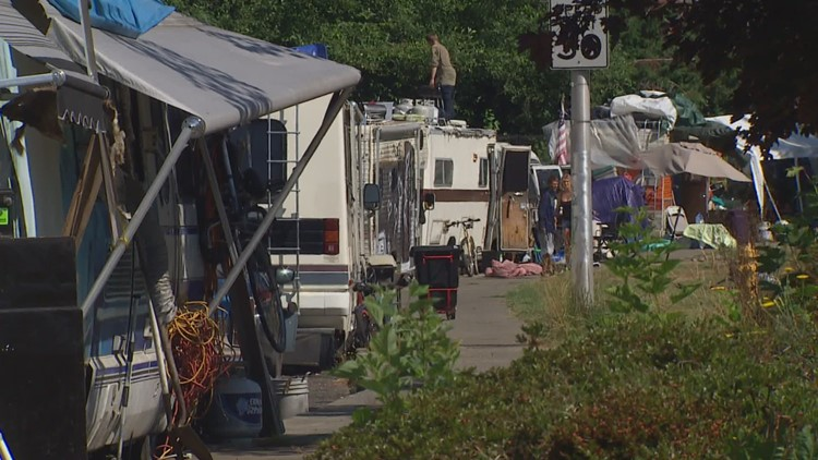 Olympia cleans up after homeless encampment on Ensign Road