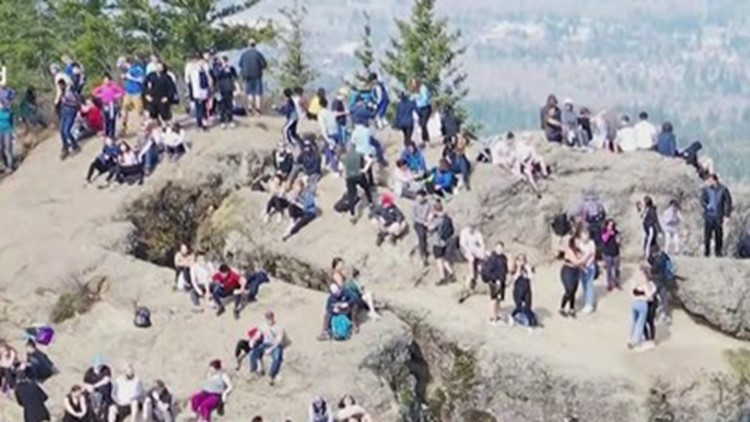 Crowds flock to beaches, hiking trails despite Inslee's plea to stay home