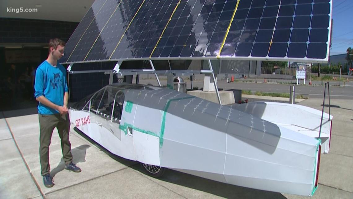 High school students build solar-powered car