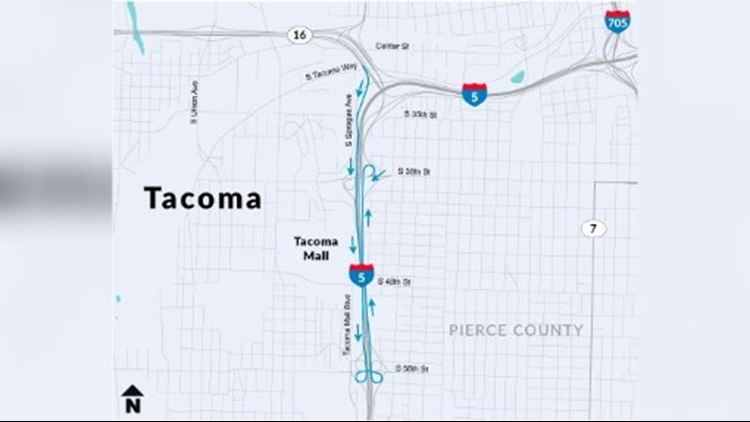 Traffic Map Tacoma.Traffic Alert Changes For I 5 In Tacoma King5 Com