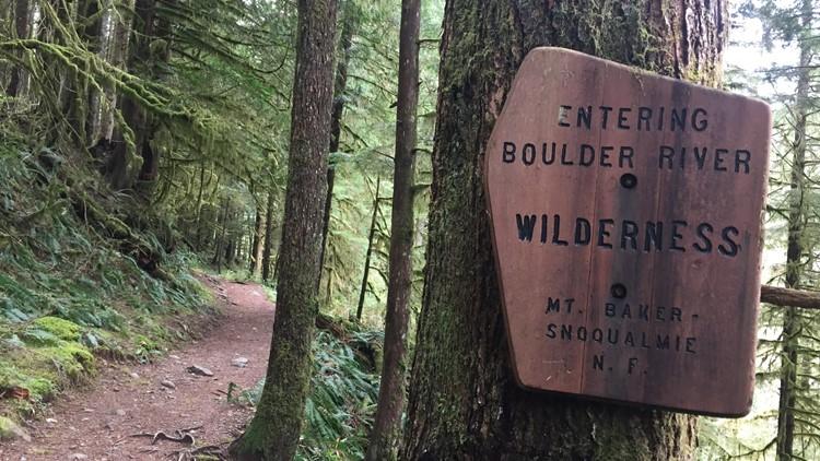 Boulder River Wilderness sign