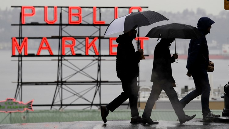 Rain-snow mix possible for parts of Puget Sound lowlands through Wednesday