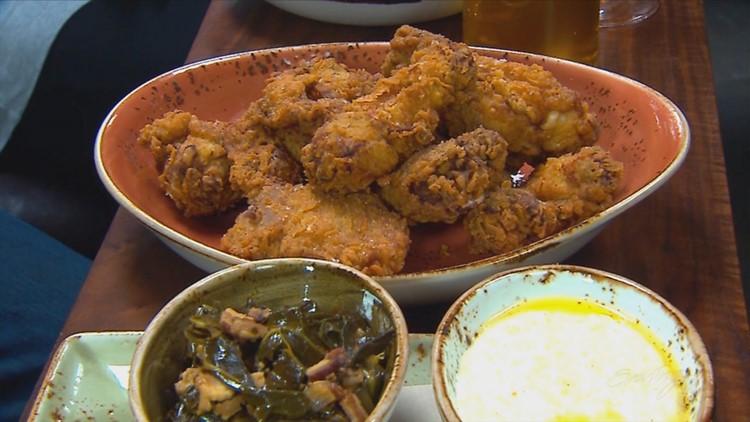 The fried chicken dinner at Ballard's Bramling Cross