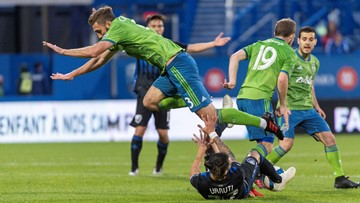 Short-handed Sounders lose to Montreal on the road 2-1