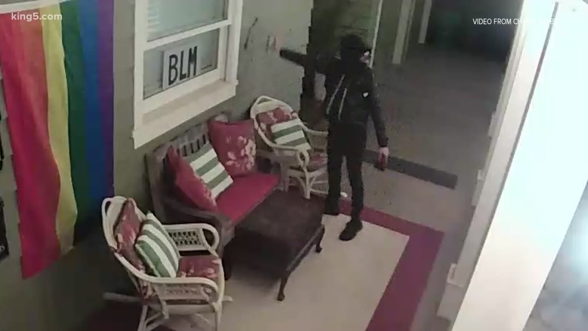 Olympia mayor's home vandalized during protest | king5.com