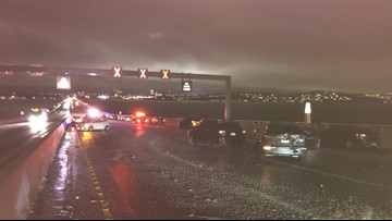 30 cars crash in icy conditions on 520 floating bridge Monday night