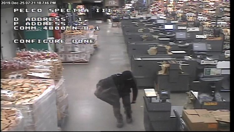 Grocery store squatter