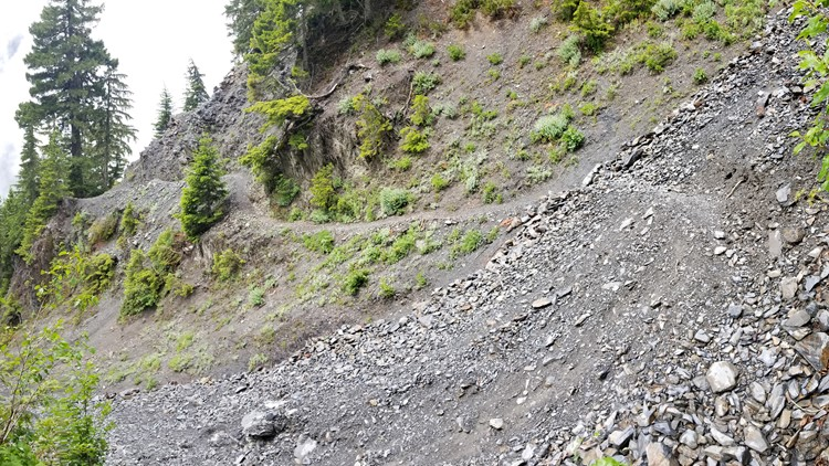 Don't slip! Rocky trail near Glacier Meadows. (Photo: Jimmy Bernhard)
