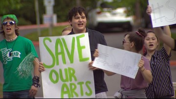 Kent students protest reductions to music, fine arts programs
