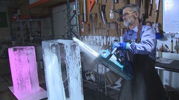 Baby, it's cold outside... and inside at Creative Ice in Kent - KING 5 Evening