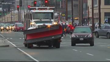 Snowplows hit Seattle streets for dry run ahead of winter season