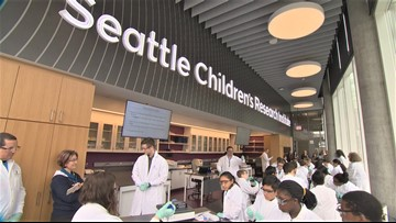 Students get hands-on experience at Seattle Children's new research facility