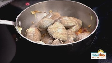 Try this recipe for delicious Neopolitan style clams from Bruciato's Chef Brendan McGill - New Day NW