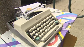 Vintage typewriters return to Everett for Word on the Street installation