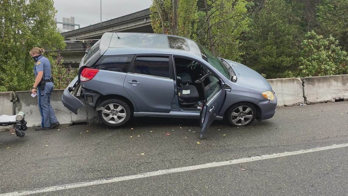 Washington troopers urge drivers to slow down on wet roads