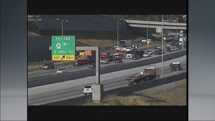 Fatal accident on I-5 in Tacoma involving semi truck