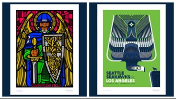 Seahawks and local artists release limited edition posters for art education