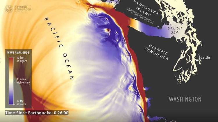 Simulation shows what would happen when a tsunami hits Washington state